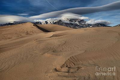 Ripples Dunes And Clouds Poster by Adam Jewell