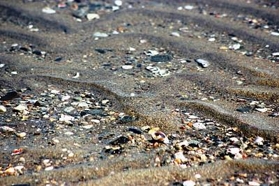 Poster featuring the photograph Ripples In The Sand by Judy Palkimas
