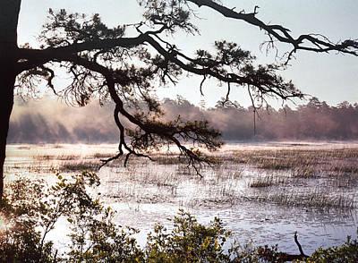 Rising Mist On Batsto Lake Poster