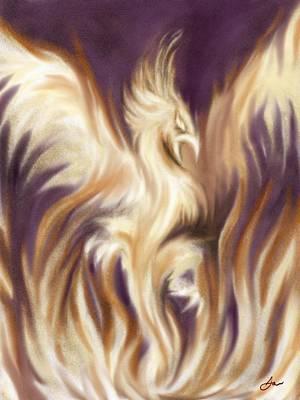 Rising Phoenix Poster by Joseph Vallejo
