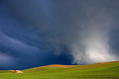 Rising Storm Over The Palouse Poster