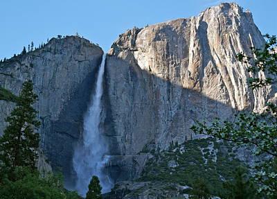 Rising Sun At Upper Yosemite Falls Poster