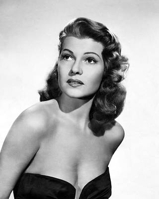 Rita Hayworth Close Up Poster