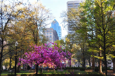 Rittenhouse Square In Springtime Poster by Bill Cannon