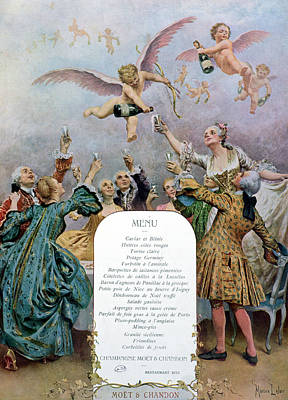 Ritz Restaurant Menu Poster by Maurice Leloir