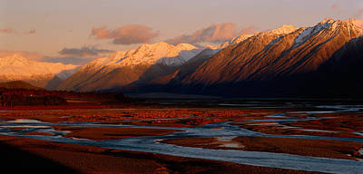 River Along Mountains, Rakaia River Poster by Panoramic Images