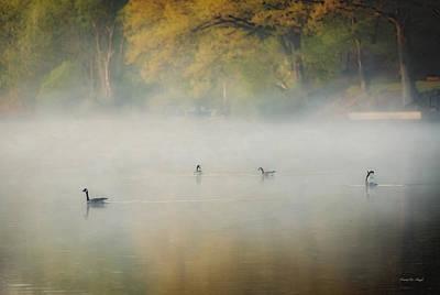 River At Sunrise Poster by Everet Regal