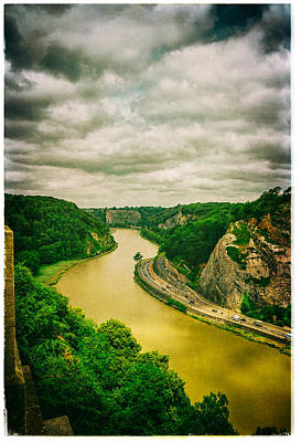 River Avon Curvature As Seen From Clifton Suspension Bridge Poster by Lenny Carter