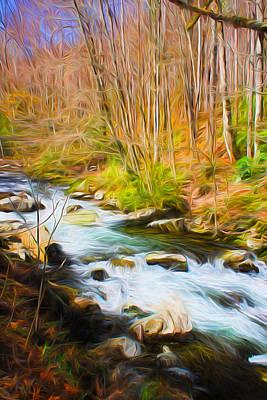 River Flow Series 02 Poster by Carlos Diaz
