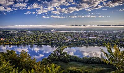 River Fog At Winona Poster
