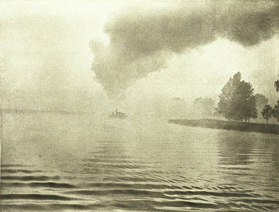 River Landscape In The Mist, Peter Henry Emerson Poster