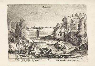 River Landscape In The Rain October, Jan Van De Velde II Poster by Jan Van De Velde (ii)