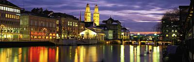 River Limmat Zurich Switzerland Poster
