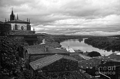River Mino And Portugal From Tui Bw Poster