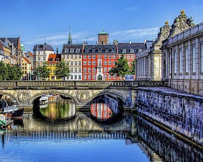 River Reflection - Copenhagen Denmark Poster by Jon Berghoff