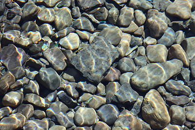 Poster featuring the photograph River Rocks One by Chris Thomas