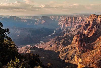 River Through Grand Canyon Poster