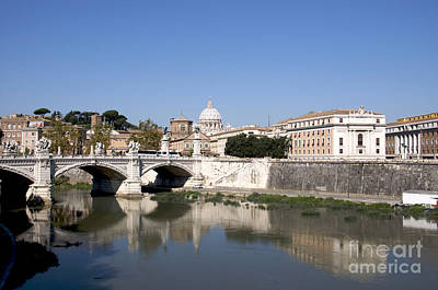 River Tiber With The Vatican. Rome Poster