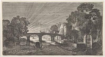River View At Sunset, Jan Van De Velde II Poster by Jan Van De Velde (ii)