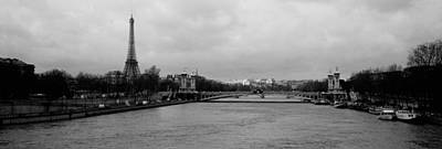 River With A Tower In The Background Poster by Panoramic Images