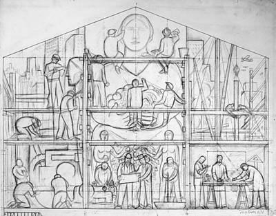 Rivera: Fresco Study, 1931 Poster