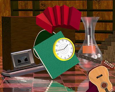 Rivera's Clock Poster by Rick Bishop