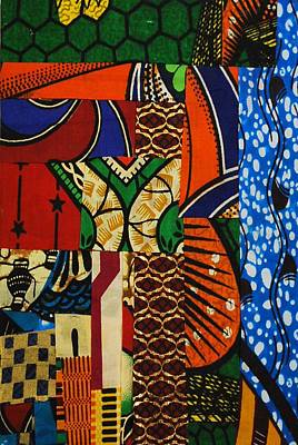 Poster featuring the tapestry - textile Riverbank by Apanaki Temitayo M