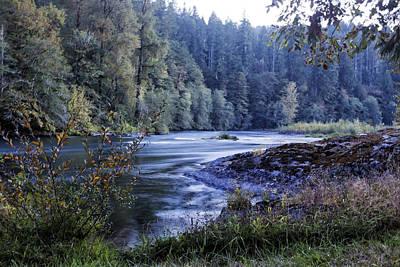 Riverflow At Dusk Poster by Belinda Greb