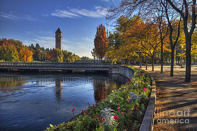 Riverfront Park - Spokane Poster by Mark Kiver