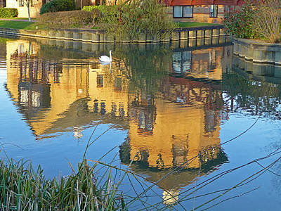 Riverside Homes Reflections Poster by Gill Billington