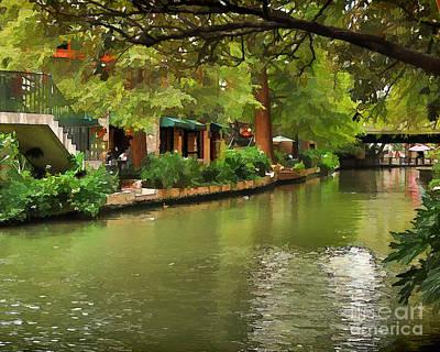 Riverwalk San Antonio Poster