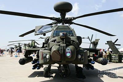 Rnlaf Apache Ah-64d Helicopter Gunship Front View Poster by Joe Fox