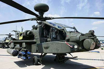 Rnlaf Apache Ah-64d Helicopter Gunship Poster by Joe Fox