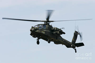 Rnlaf Apache Helicopter Gunship Hovering Poster by Joe Fox