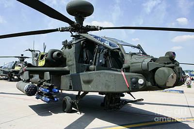 Rnlaf Longbow Apache Ah-64d Helicopter Gunship Static Display Poster by Joe Fox