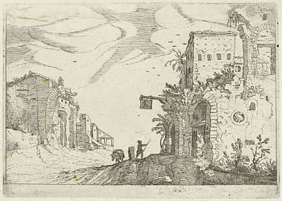 Road Between Ruins, Willem Van Nieulandt II Poster