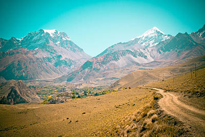 Road In Himalyas Mountain To Muktinath  Poster by Raimond Klavins