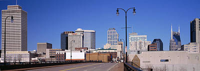 Road Into Downtown Nashville Poster by Panoramic Images