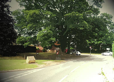 Road Junction In Kirk Langley, Moor Lane Approaching Poster by Litz Collection