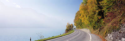 Road, Lake, Brienz, Switzerland Poster by Panoramic Images