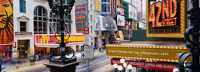 Road Running Through A Market, 42nd Poster by Panoramic Images