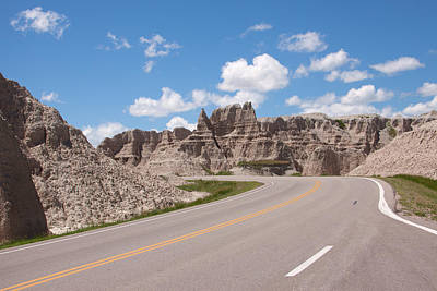 Road Through The Badlands Poster