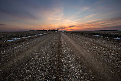 Road To Sunset Poster by Aaron J Groen