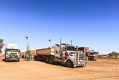 Road Trains Refuelling Poster