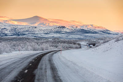 Road With Frozen Landscape, Extreme Poster