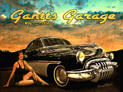 Roadmaster Betty And The Big Black Buick Poster