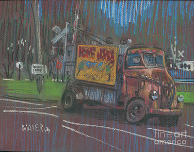 Poster featuring the painting Roadside Advertising by Donald Maier