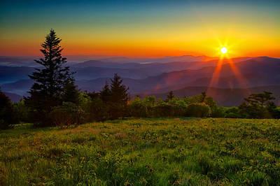 Roan Mountain Sunrise Poster