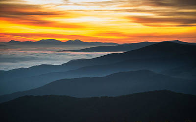 Poster featuring the photograph Roan Mountain Sunrise by Serge Skiba