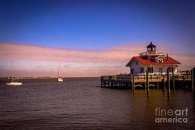 Roanoke Lighthouse Poster by Tom Gari Gallery-Three-Photography